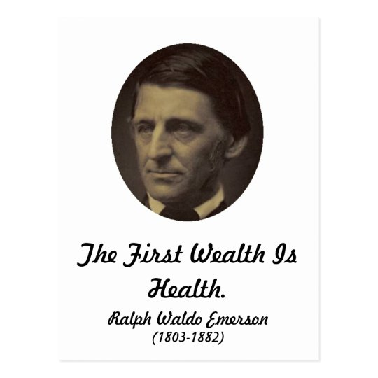 First Wealth is Health Postcard
