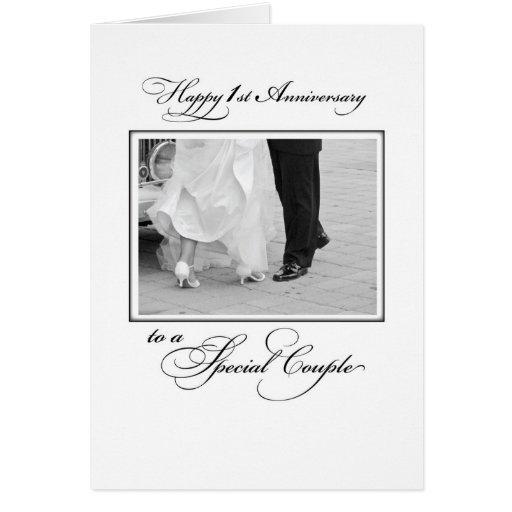 First wedding anniversary congratulations card zazzle