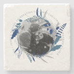 First Wedding Anniversary PHOTO Gift Under $10 Stone Coaster