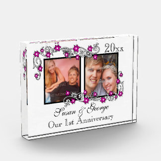 First wedding anniversary photo PERSONALIZE Acrylic Award