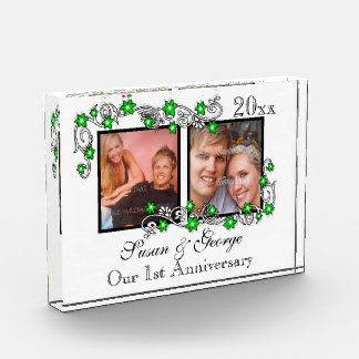 First wedding anniversary photo PERSONALIZE Award