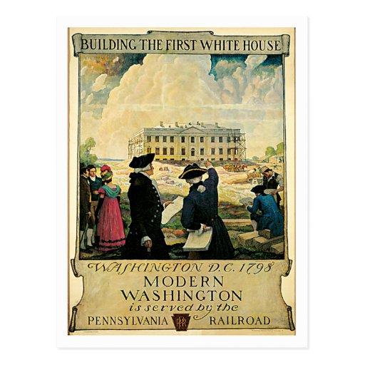 First White House Washington D.C. Post Card