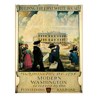 First White House Washington D.C. Postcard