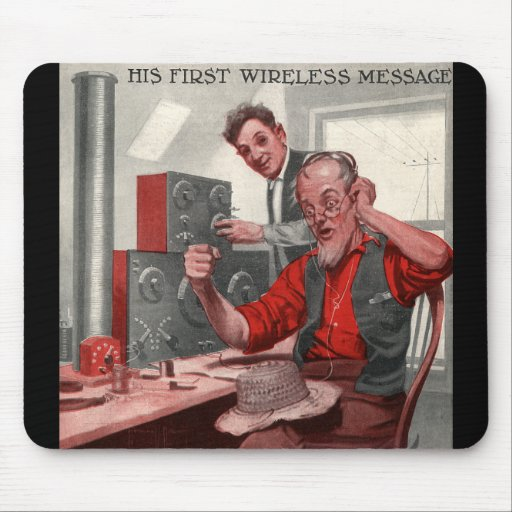 First Wireless Message Mouse Pad