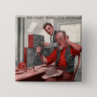 First Wireless Message Pinback Button