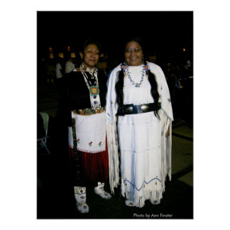 First Woman Dancer and Friend / Phoenix Pow Wow Poster