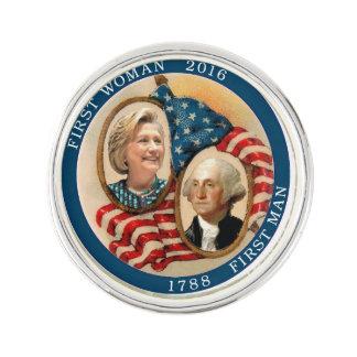 First Woman President: Hillary Clinton Lapel Pin