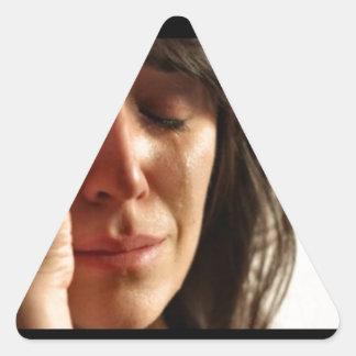First world Problems II Triangle Sticker