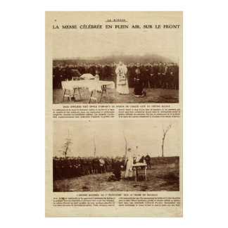 First World War, Open air Mass, on the front line Poster