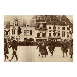 First World War, Royals visit troops Poster
