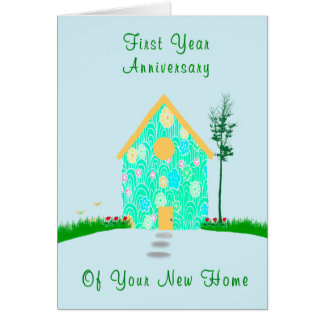 First Year Anniversary of New Home Card