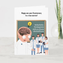 First year craniversary craniotomy warrior card