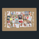 """First Year Together Photo Memories Faux Cork Board Placemat<br><div class=""""desc"""">It&#39;s easy to make a &quot;baby&#39;s first year, &quot; &quot;year in review&quot; or &quot;our first year together&quot; memory board design with this template! Gather your favorite photos or or other graphics (27 of them), then have them printed on this &quot;bulletin board&quot; or &quot;cork board&quot; background graphic. There&#39;s also custom text...</div>"""