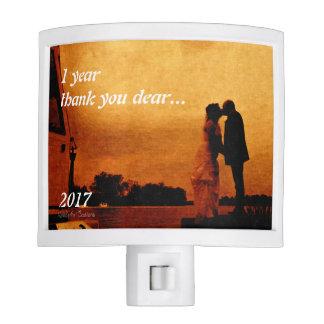 First year wedding anniversary keepsake. night light