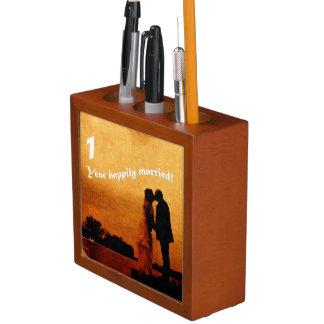 First year wedding anniversary keepsake Pencil/Pen holder