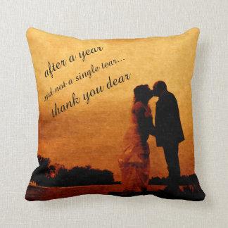 First year wedding anniversary keepsake throw pillow