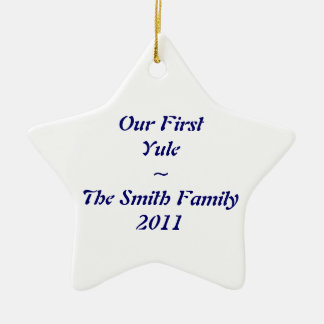 """""""First Yule"""" ornament"""