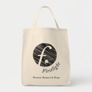 FirstLight Organic Grocery Tote Canvas Bags