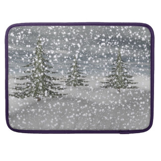firtree and snow MacBook pro sleeve