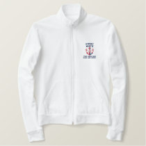 Firts Mate Nautical Anchor Personalized Monogram Embroidered Jacket