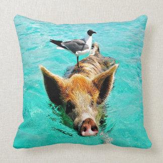 Fis de la gaviota del cerdo de la natación de la i cojines