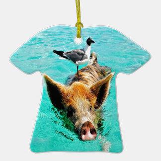 Fis de la gaviota del cerdo de la natación de la i ornamentos de reyes magos