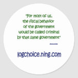 Fiscal behavior classic round sticker