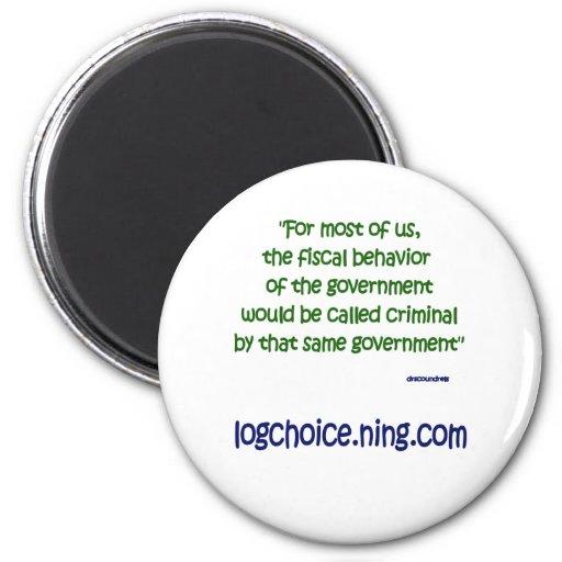 Fiscal behavior fridge magnets