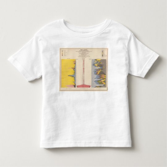 Fiscal Chart, Statistical US Lithograph Toddler T-shirt