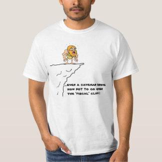 Fiscal Cliff Caveman T-Shirt