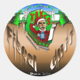 Fiscal Cliff Classic Round Sticker