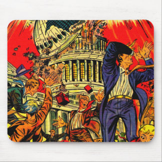 Fiscal Cliff Political Apocalypse Mouse Pad