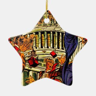 Fiscal Cliff Political Apocalypse Ornament