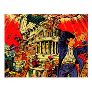 Fiscal Cliff Political Apocalypse Postcards