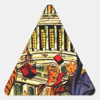Fiscal Cliff Political Apocalypse Triangle Sticker