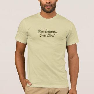 Fiscal Conservative Social Liberal T-Shirt