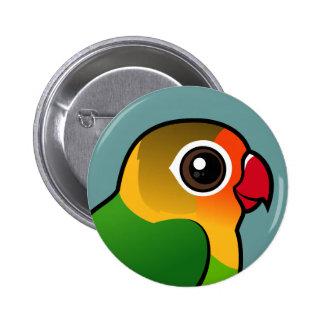 Fischer's Lovebird Pinback Buttons