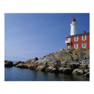 Fisgard Lighthouse in the Fort Rodd Hill Poster