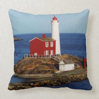 Fisgard Lighthouse Throw Pillow