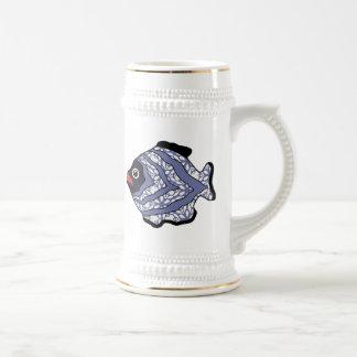 Fish-019 tropical tazas de café