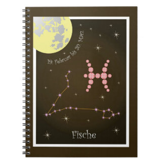 Fish 19 February to 20. March note booklet Spiral Notebook