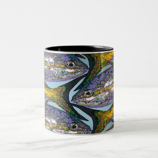 'Fish 4' Two-Tone Coffee Mug