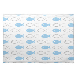 Fish a background3 cloth placemat