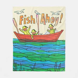 Fish Ahoy! Fleece Blanket