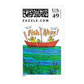 Fish Ahoy! Postage Stamp