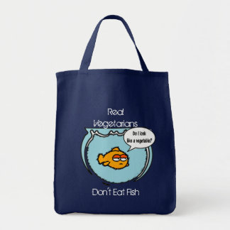 Fish Ain't Veggie Tote Bag
