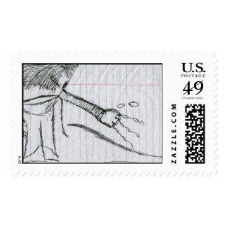 Fish Alien Hands Technology Stamps