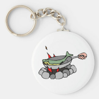 Fish and a Campfire Keychain