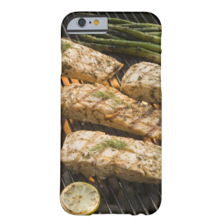 Fish and asparagus cooking on grill barely there iPhone 6 case