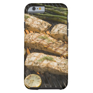 Fish and asparagus cooking on grill tough iPhone 6 case